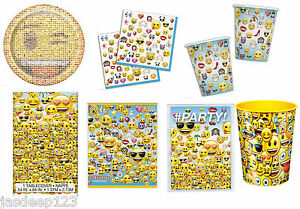 Image Is Loading Emoji Official Face Smiley Tableware Birthday Party Supplies
