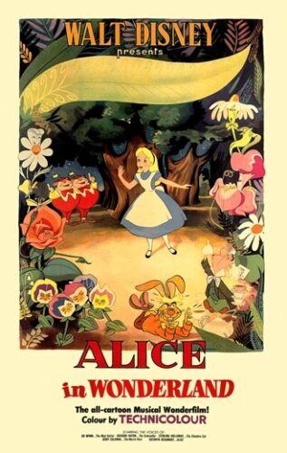 ALICE IN WONDERLAND 1951 LEWIS CARROLL FILM V2 A3 POSTER ART PRINT