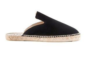 più foto d0a20 f0bea Dettagli su Manebi espadrillas slippers uomo pelle camoscio nero scarpe  estive 2019