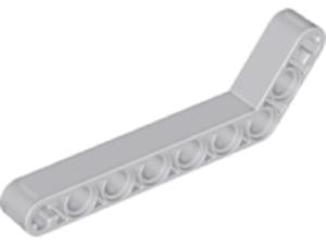 5 x Lego Technic Liftarm 1 x 9 bent Thick #32271 Light bluished Gray 7-3