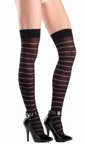 Striped Thigh Highs Stockings Nylons Costume Hosiery Horizontal BW742