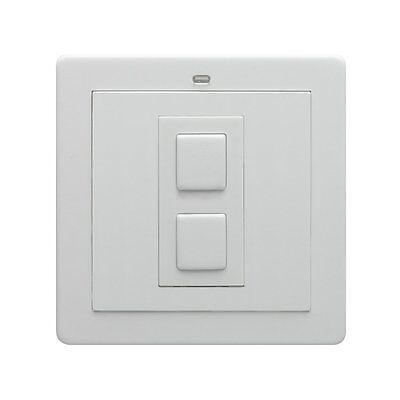 LightwaveRF 1 Gang Wireless On/Off Light Switch White Plastic JSJS LW205 WH