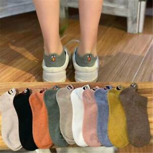 Women-Kawaii-Casual-Cotton-Sock-Embroidered-Expression-Socks-Ankle-Funny-Socks