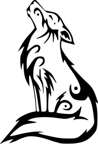 tribal animal wolf decal sticker window wall laptop door room