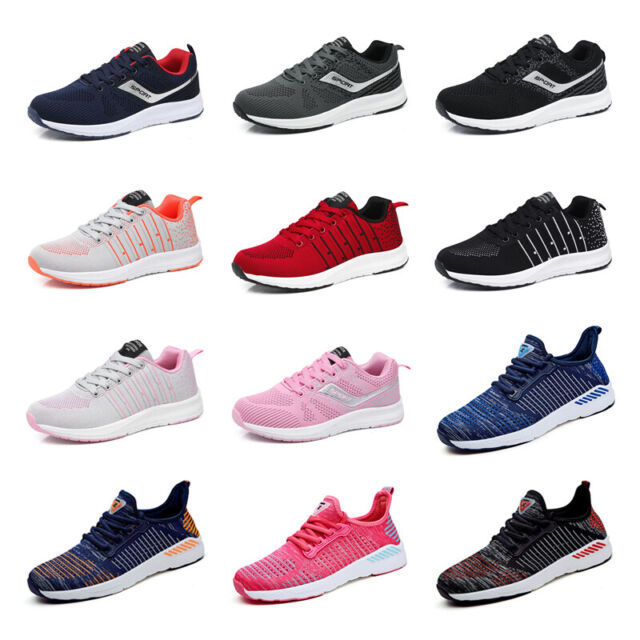 UK MENS TEENS PUMPS TRAINERS LACE UP SPORT RUNNING GYM SNEAKERS MESH SHOES SIZE1