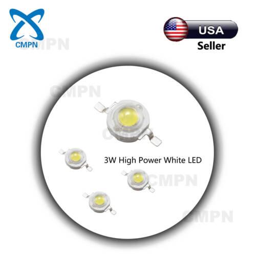10Pcs 3W High Power LED Chip Cold White 30000-35000k SMD Beads Buld Light Lamp