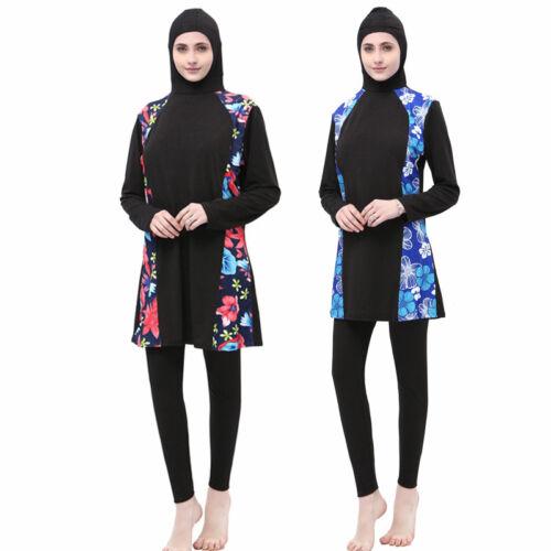 Muslim Swimsuit Full Cover Swimwear Women Costumes Islamic Burkini Swimming Set