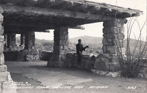Postcard-RPPC-Greetings-Colossal-Cave-Arizona-AZ