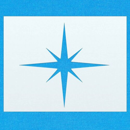Star Star Shape Mylar Airbrush Painting Wall Art Stencil four