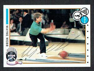 Wayne-Webb-20-signed-autograph-auto-1990-Kingpins-PBA-Bowling-Trading-Card