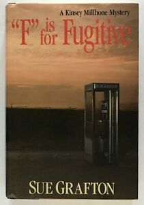 """Sue Grafton: """"F"""" is for Fugitive SIGNED FIRST EDITION"""