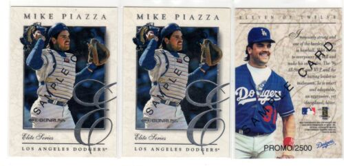 1X MIKE PIAZZA 1997 Donruss Elite #11 PROMO SAMPLE NMMT Lots Available Dodgers