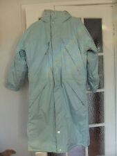 Lovely long warm Wellensteyn Eismantel coat in pale blue with concealed hood.XS.
