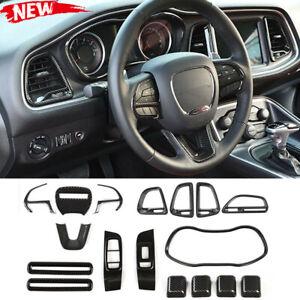 Carbon Fiber Full Set Kit Interior Decor Accessories for Dodge Challenger 15-20