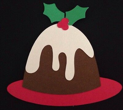 Christmas Cake Die Cut Handmade With Reflections Cardstock