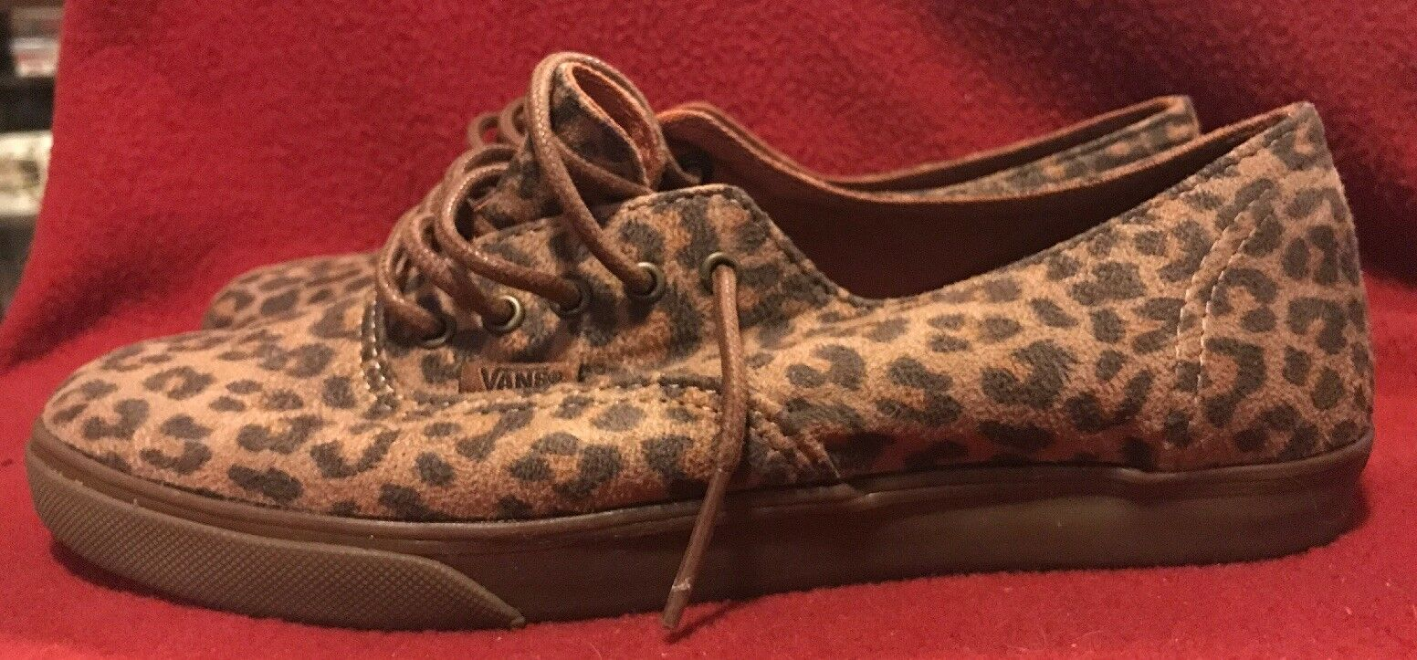 Vans Era 5.5 Leopard suede 7 Damens 5.5 Era Men vintage Slip On skate hi authentic rare 7aceb2