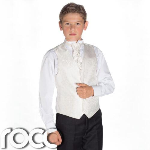 Garçons ivoire /& costume noir Page Boy Suits Garçons Costumes Boys costumes de mariage agiter