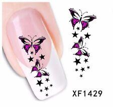 Carte de Tatouage temporaire pour ongles (nail art faux ongles) XF1429