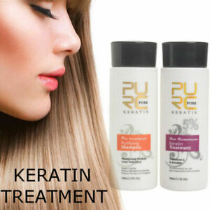 Pure Brazilian Keratin Hair Straightening Treatment 100ml Blow Dry Shampoo Kit Ebay