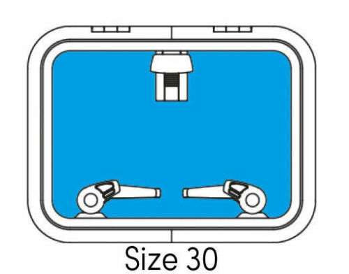LUKENDECKEL Lewmar LOW PROFILE Size 30 replacement deck hatch lens