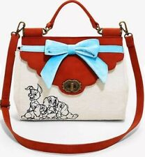 Loungefly Disney Lady and the Tramp Bow Faux Leather Handbag Tote Purse WDTB1381