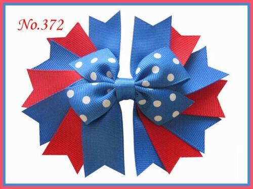 "200 BLESSING Good Girl 4.5/"" Novel A-Swallowtail Hair Bows Clip 227 No."