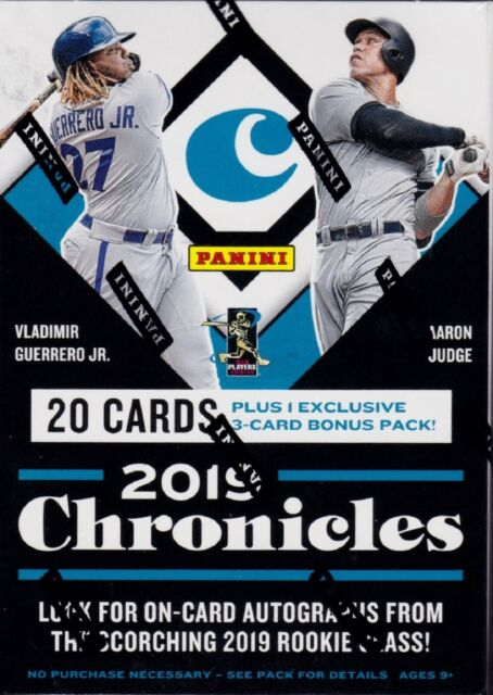 2019 Panini Chronicles Baseball sealed blaster box 5 packs of 4 cards