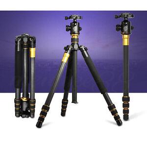 QZSD-Q-999C-Carbon-Fiber-Tripod-Monopod-Stand-With-Ball-Head-For-Digital-Camera