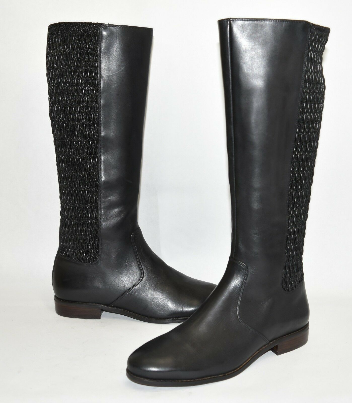 New  Cole Haan Elgreenon Knee High Boot Black Leather Size 10.5 B W03573