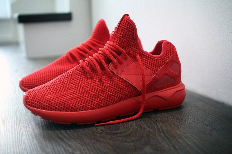 ADIDAS ORIGINALS Homme TUBULAR RUNNER STRAP TRAINERS -Taille 8.5 - Rouge - S79428