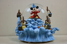 Disney Mickey Mouse Musical Snowglobe Fantasia The Sorcerer's Apprentice