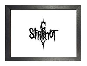 Slipknot 20 American Metal Band Poster Scary Mask Photo Music Logo Black White