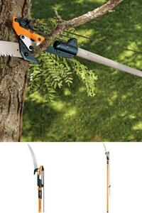 14 ft tree pruner pole saw blade branch limb pruning trimmer cutter image is loading 14 ft tree pruner pole saw blade branch greentooth