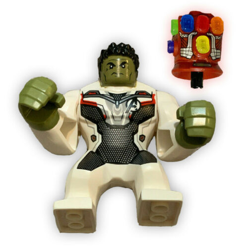 NEW LEGO Avengers 76144 Hulk Minifigure With Stark Guantlet /& All 6 Stones