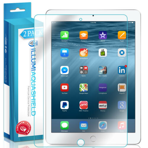 "9.7/"",2017 2x iLLumi AquaShield Clear Screen Protector for Apple iPad"