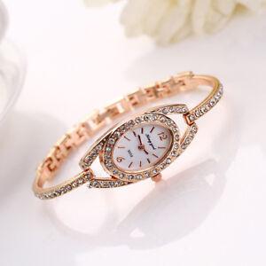 Fashion-Women-Lady-Bracelet-Crystals-Watch-Stainless-Steel-Crystal-Quartz-Watch