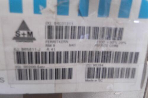 1 Set Ferrite Shell Core RM 8 N 41 by Siemens Matsushita