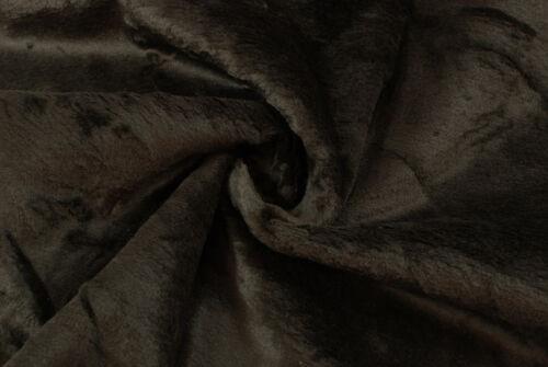 Tessuto double face pelliccia//pelle marrone STOFFA AL METRO TESSUTO A METRAGGIO