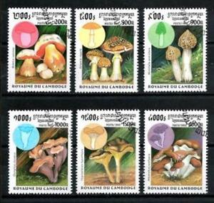 Setas-Camboya-8-serie-completo-de-6-sellos-matasellados