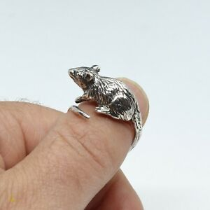 Rat Terrier Jewelry Animal Silver Rings Adjustable Ring Rat Terrier Ring Rat Terrier Gifts Sterling Silver Ring