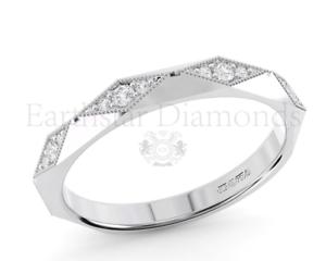 0.10CT Round Brilliant Cut Diamond Half Eternity Ring in gold & Platinum