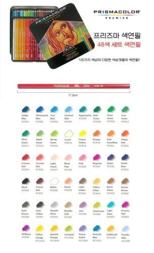 Prismacolor Premier Soft Core Colored 48 Colored Oil-blanced Pencils SET