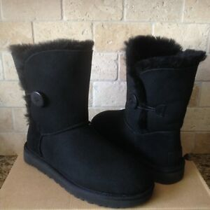 900c8f56c4e Details about UGG Classic Short Bailey Button II Water-resistant Black  Boots Size US 11 Womens