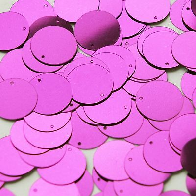 Mooi Sequins 15mm Top Hole Bright Violet Purple Metallic Paillettes Made In Usa Gedistribueerd Worden Over De Hele Wereld