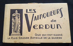WW1-Original-set-10-French-postcards-VERDUN-French-Generals-amp-General-Pershing