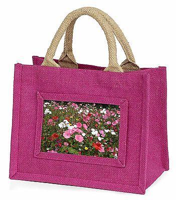 Bellissimo Papaveri E Fiori Selvatici Bambine Small Rosa Shopping Bag Christma, Fl-10bmp-mostra Il Titolo Originale
