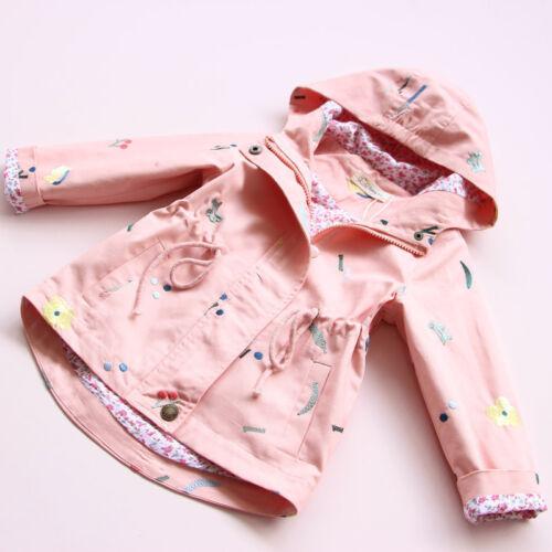 Baby Girl Kids Hooded Windbreaker Outwear Coat Jacket Overcoat Raincoat Snowsuit