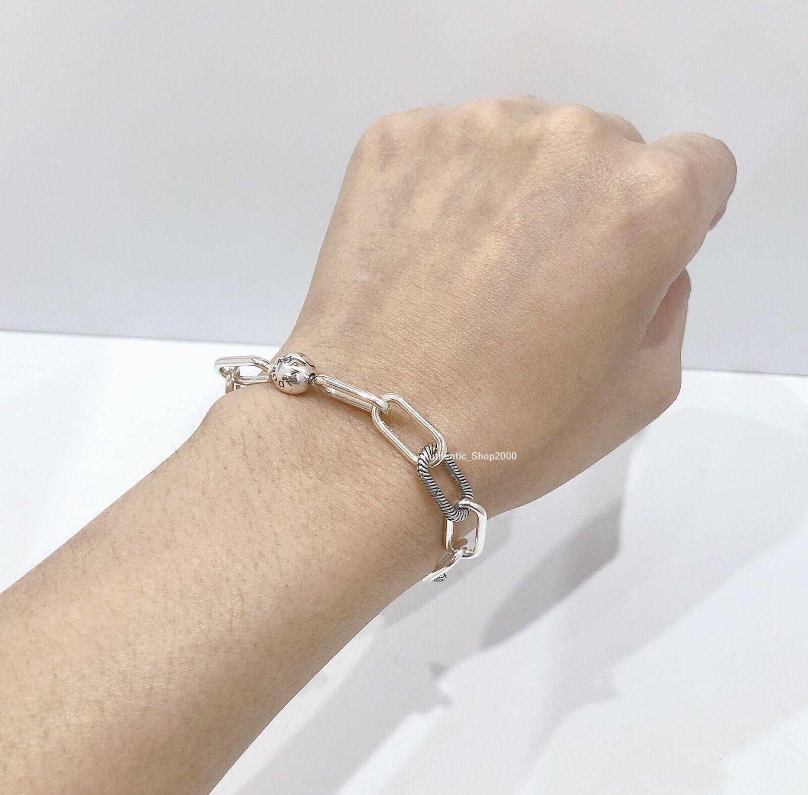 7 9 Authentic Pandora Me Link Sterling Silver Charm Bracelet 598373 4 For Sale Online Ebay