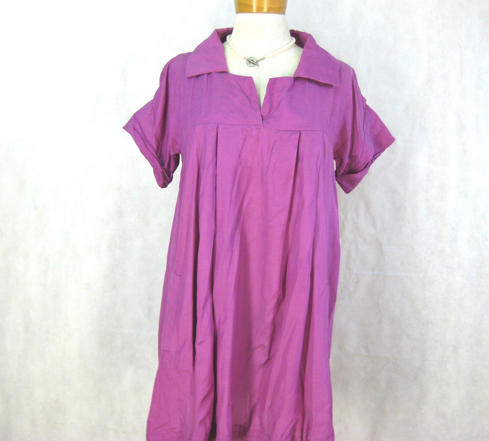 Size S 8 cotton blend magenta coloured dress by KIRRILY JOHNSTON
