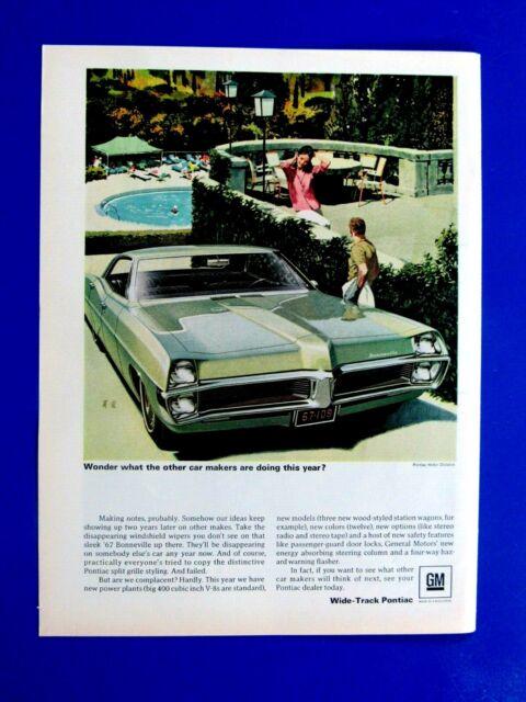 """1966 Pontiac GTO  Fitz /& Van Art Original Print Ad-8.5 x 11/"""""""